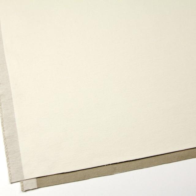 コットン&ポリウレタン×無地(オフホワイト&カーキベージュ)×モールスキンストレッチ イメージ2