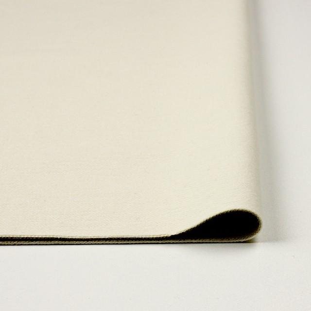 コットン&ポリウレタン×無地(オフホワイト&カーキベージュ)×モールスキンストレッチ イメージ3