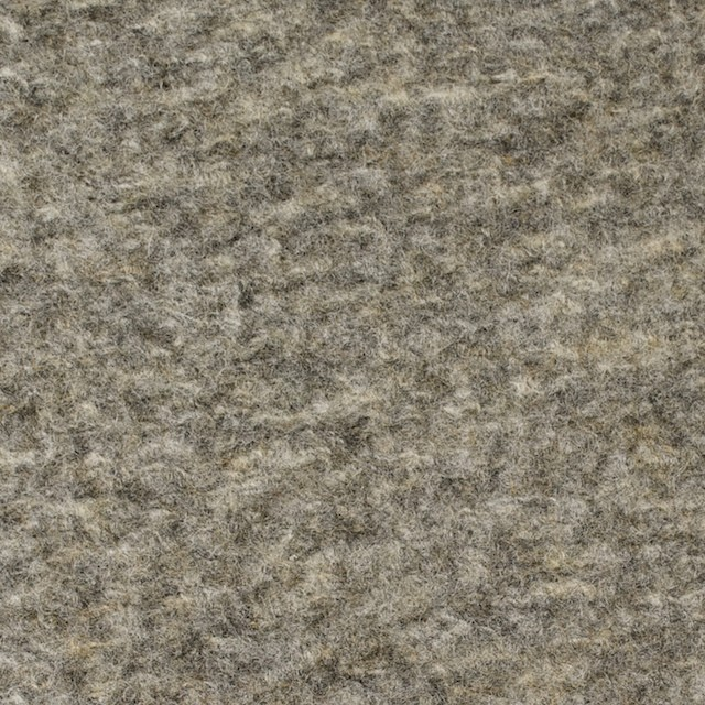 ウール×無地(アッシュグレー)×ボアニット イメージ1