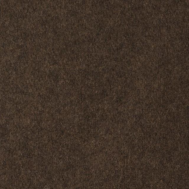 ウール&ポリエステル混×無地(ブラウン)×フラノ(フランネル) イメージ1