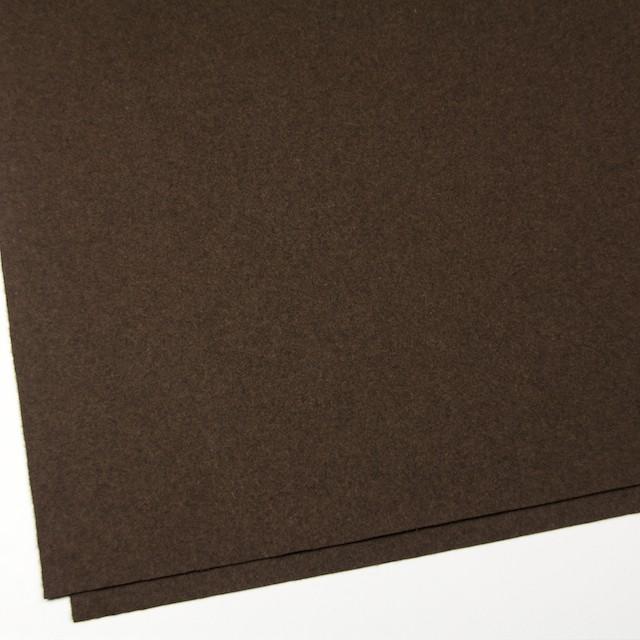 ウール&ポリエステル混×無地(ブラウン)×フラノ(フランネル) イメージ2