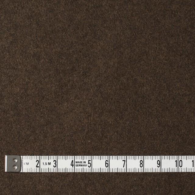 ウール&ポリエステル混×無地(ブラウン)×フラノ(フランネル) イメージ4