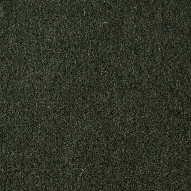 ウール×無地(ダークグリーン)×メルトン イメージ1