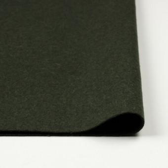 ウール×無地(ダークグリーン)×メルトン サムネイル3