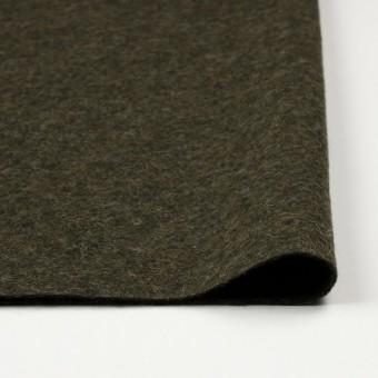 ウール&ポリエステル×無地(カーキグリーン)×圧縮ニット_イタリア製 サムネイル3