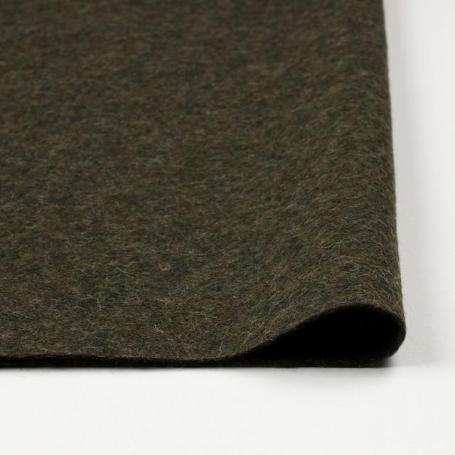 ウール&ポリエステル×無地(カーキグリーン)×圧縮ニット_イタリア製 イメージ3