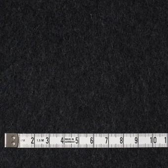 ウール×無地(チャコールブラック)×メルトン サムネイル4