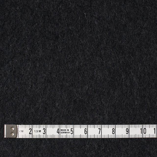 ウール×無地(チャコールブラック)×メルトン イメージ4
