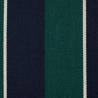 ウール×ストライプ(モスグリーン&ダークネイビー)×ベネシャン サムネイル1