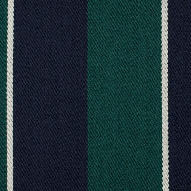 ウール×ストライプ(モスグリーン&ダークネイビー)×ベネシャン イメージ1