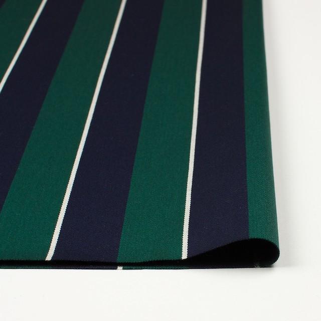 ウール×ストライプ(モスグリーン&ダークネイビー)×ベネシャン イメージ3