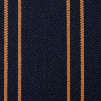ウール×ストライプ(オーカー&ダークネイビー)×ベネシャン サムネイル1