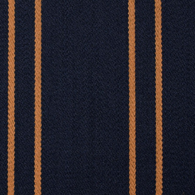 ウール×ストライプ(オーカー&ダークネイビー)×ベネシャン イメージ1