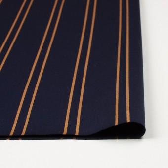 ウール×ストライプ(オーカー&ダークネイビー)×ベネシャン サムネイル3