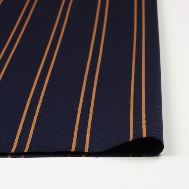 ウール×ストライプ(オーカー&ダークネイビー)×ベネシャン イメージ3