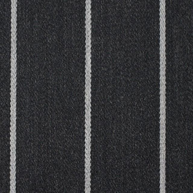 ウール×ストライプ(ライトグレー&チャコールグレー)×ベネシャン イメージ1