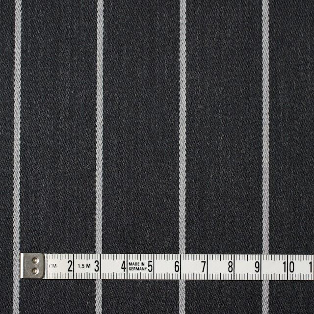 ウール×ストライプ(ライトグレー&チャコールグレー)×ベネシャン イメージ4
