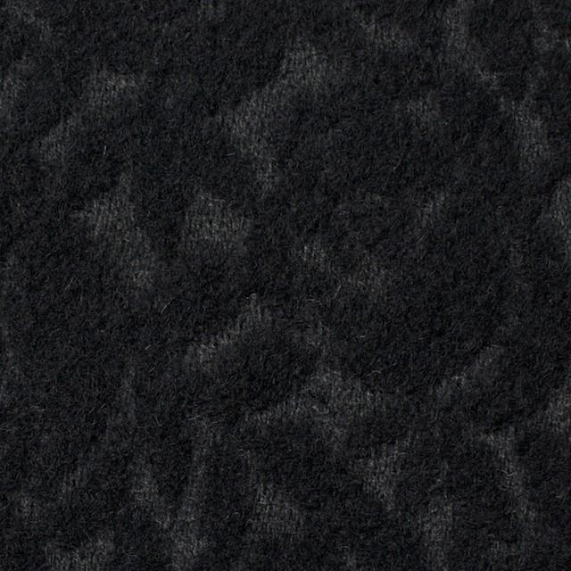 ウール&ポリエステル×フラワー(ブラック)×ジャガード イメージ1