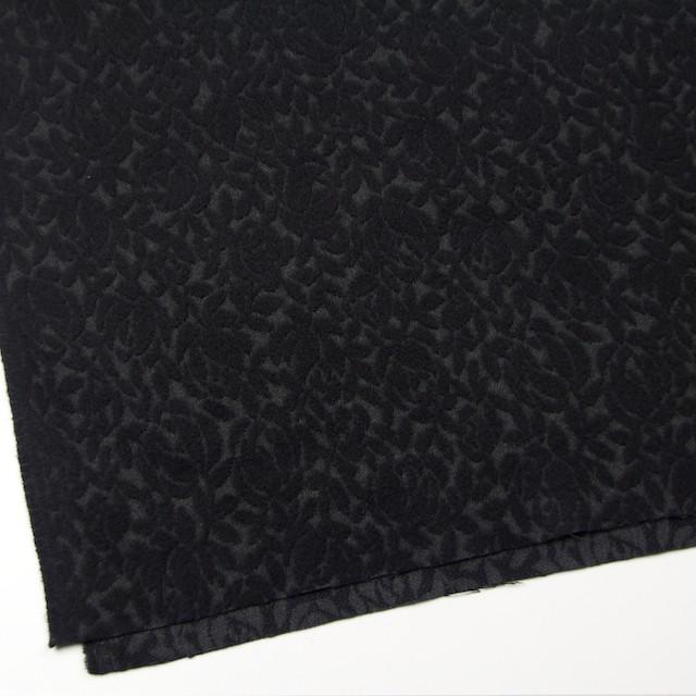 ウール&ポリエステル×フラワー(ブラック)×ジャガード イメージ2