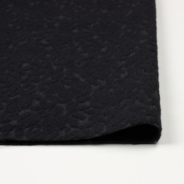 ウール&ポリエステル×フラワー(ブラック)×ジャガード イメージ3
