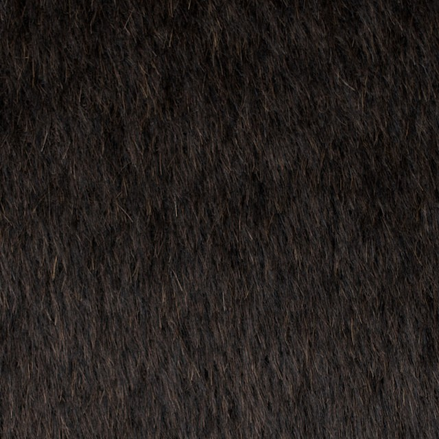 ウール×無地(ダークブラウン)×シャギー イメージ1
