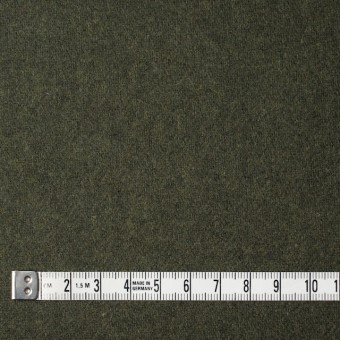ウール&ナイロン×無地(カーキグリーン)×フラノ(フランネル) サムネイル4