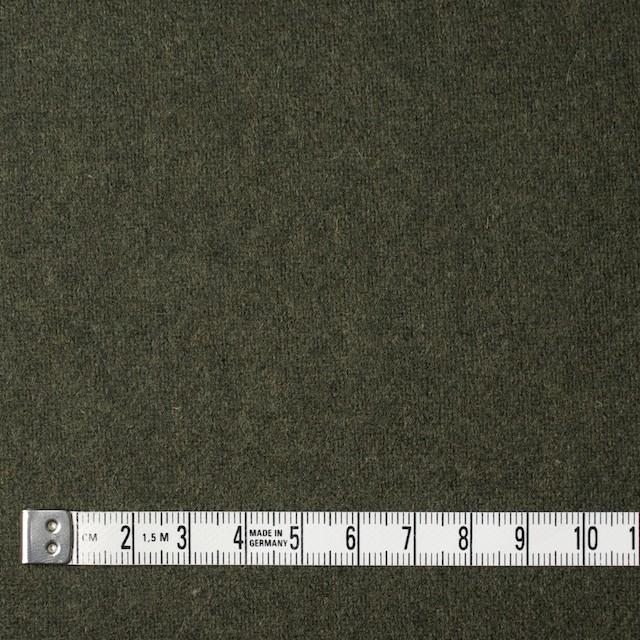 ウール&ナイロン×無地(カーキグリーン)×フラノ(フランネル) イメージ4