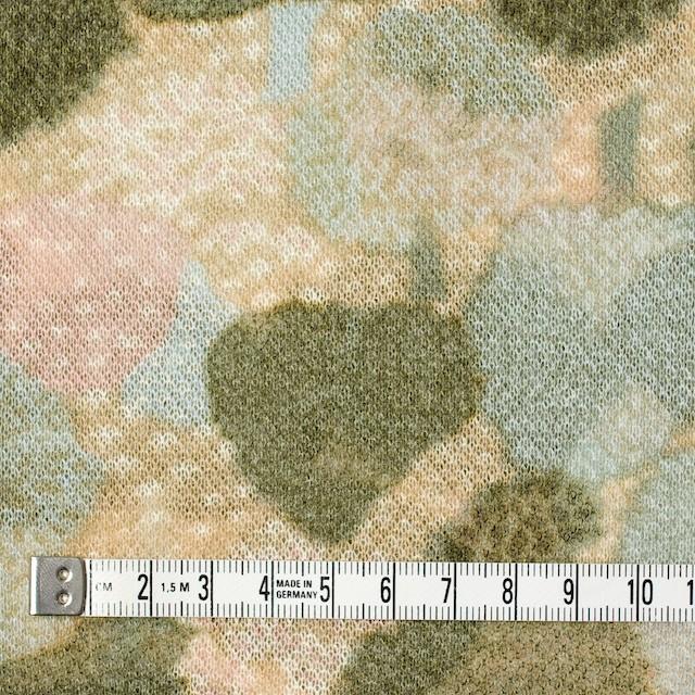 アクリル&ウール×幾何学模様(ベージュ&グリーン)×メッシュニット イメージ4