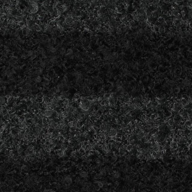 ウール&ポリエステル×ボーダー(チャコールグレー&ブラック)×ループニット_全2色 イメージ1