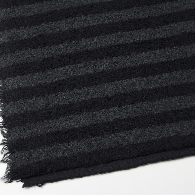 ウール&ポリエステル×ボーダー(チャコールグレー&ブラック)×ループニット_全2色 イメージ2