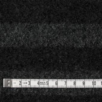 ウール&ポリエステル×ボーダー(チャコールグレー&ブラック)×ループニット_全2色 サムネイル4