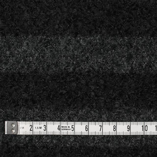 ウール&ポリエステル×ボーダー(チャコールグレー&ブラック)×ループニット_全2色 イメージ4