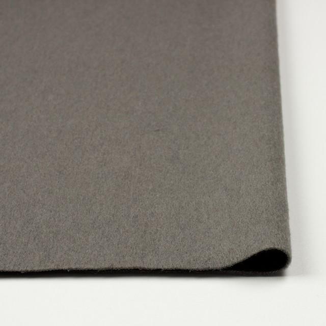 ウール×無地(グレー&ブラック)×フリースニット イメージ3