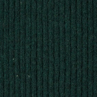 ウール&ポリエステル混×無地(ブリティッシュグリーン)×片面リブニット サムネイル1