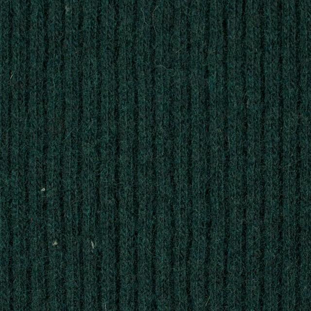 ウール&ポリエステル混×無地(ブリティッシュグリーン)×片面リブニット イメージ1