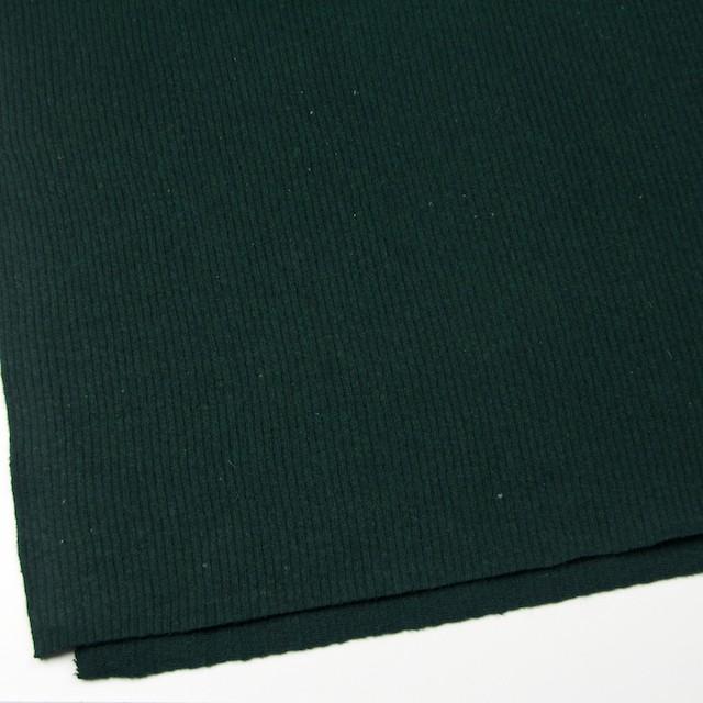 ウール&ポリエステル混×無地(ブリティッシュグリーン)×片面リブニット イメージ2