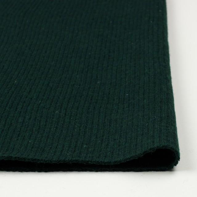 ウール&ポリエステル混×無地(ブリティッシュグリーン)×片面リブニット イメージ3