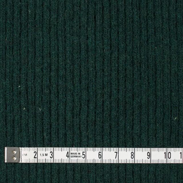 ウール&ポリエステル混×無地(ブリティッシュグリーン)×片面リブニット イメージ4