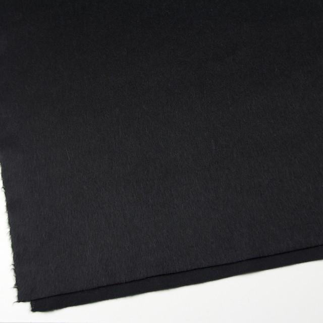 ウール×無地(ブラック)×ビーバー イメージ2