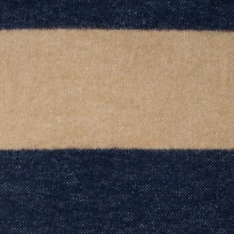 コットン×ボーダー(ベージュ&ネイビー)×フランネル_全2色 サムネイル1