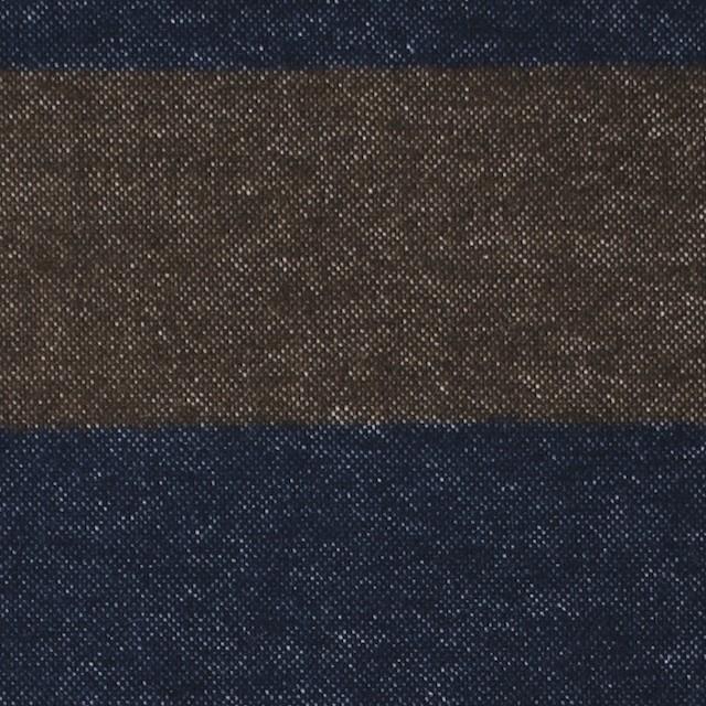 コットン×ボーダー(カーキブラウン&ネイビー)×フランネル_全2色 イメージ1