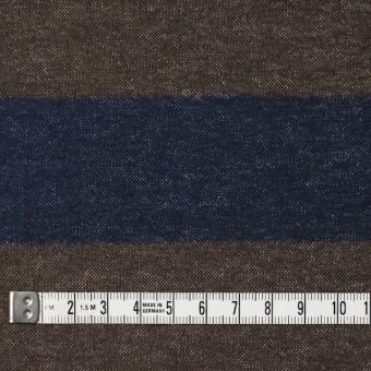 コットン×ボーダー(カーキブラウン&ネイビー)×フランネル_全2色 サムネイル4