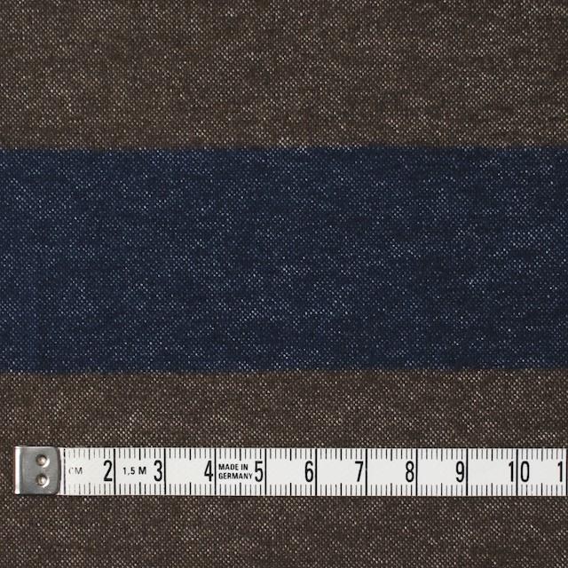 コットン×ボーダー(カーキブラウン&ネイビー)×フランネル_全2色 イメージ4