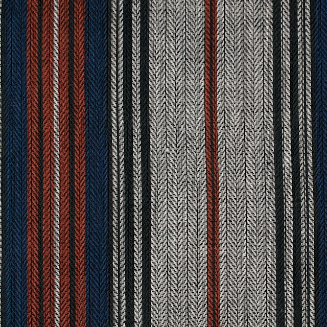 コットン&ポリウレタン×ストライプ(グレー&レッド、ネイビー)×ヘリンボーン イメージ1