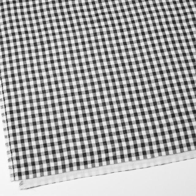 コットン×チェック(ネイビー)×トリプルガーゼ イメージ2