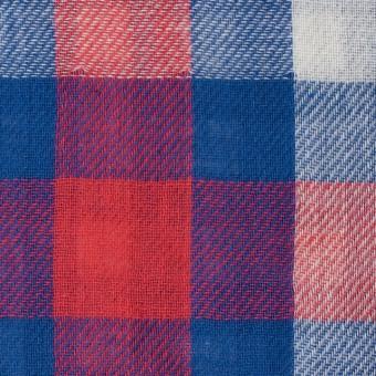コットン×チェック(レッド&ブルー)×Wガーゼ サムネイル1