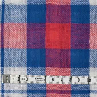 コットン×チェック(レッド&ブルー)×Wガーゼ サムネイル4