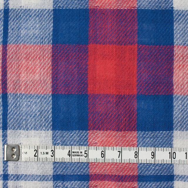 コットン×チェック(レッド&ブルー)×Wガーゼ イメージ4