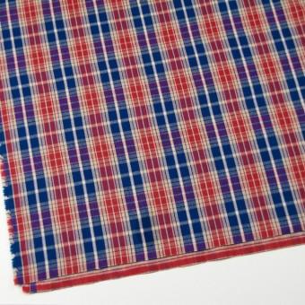 コットン×チェック(ベージュ&レッド、ブルー)×フランネル サムネイル2
