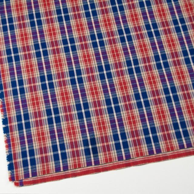 コットン×チェック(ベージュ&レッド、ブルー)×フランネル イメージ2
